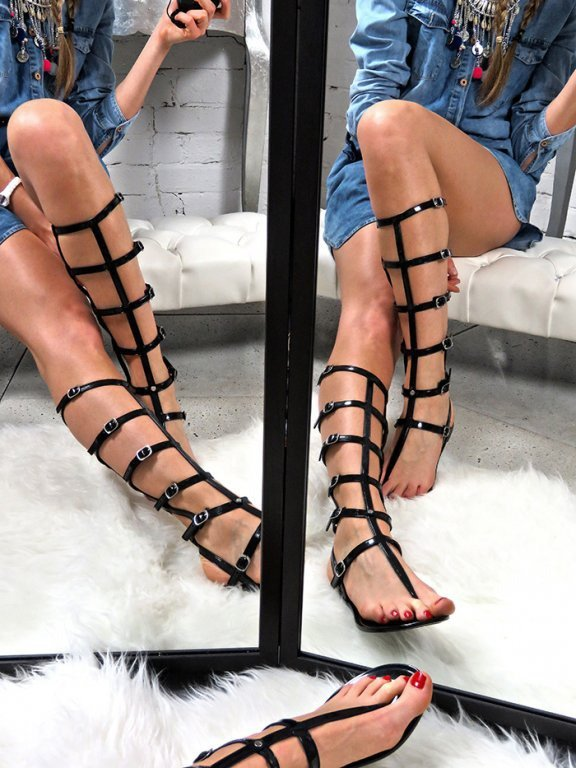 LONG GLADIATOR  SANDALS ANCIENT GREEK