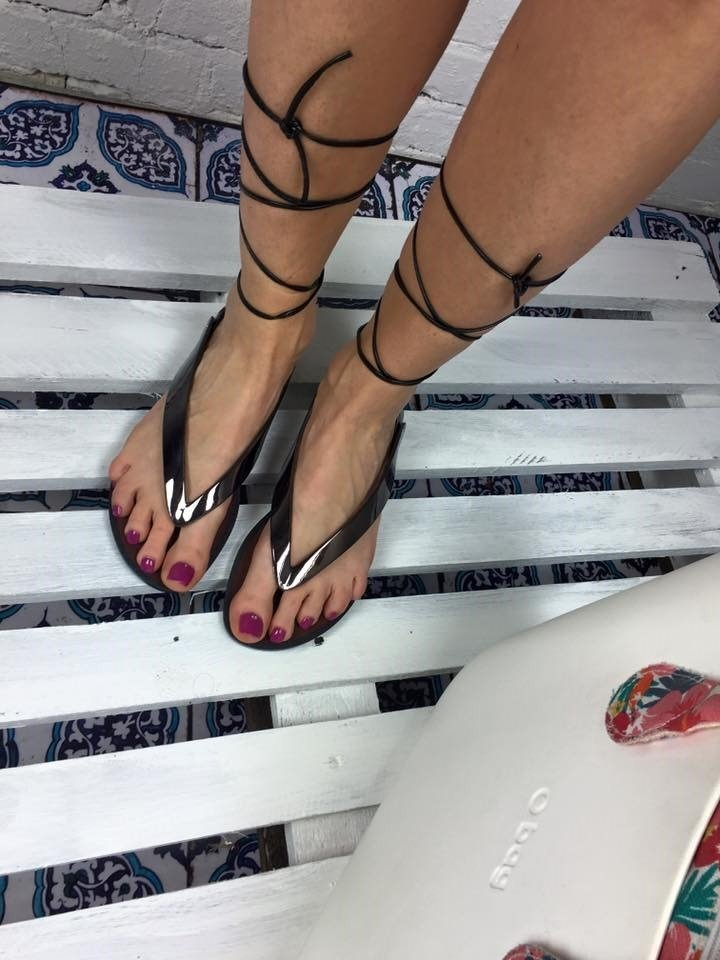 LU BOO PEWTER LACE UP GLADIATOR SANDALS