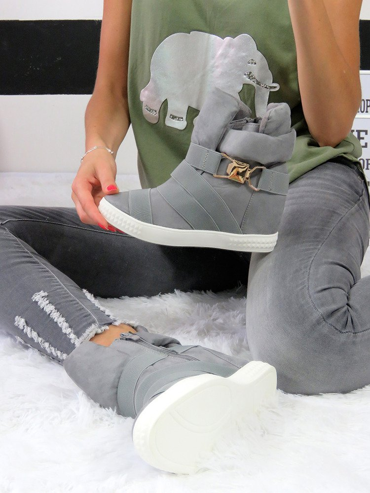 SNEAKERSY SUEDE TRAINERS WEDGES