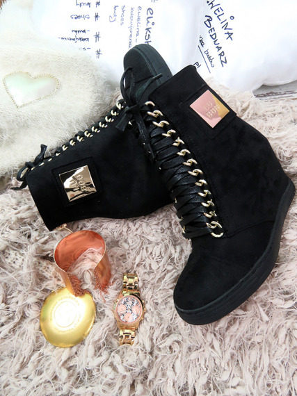 Black Sneakers Trainers Cassi