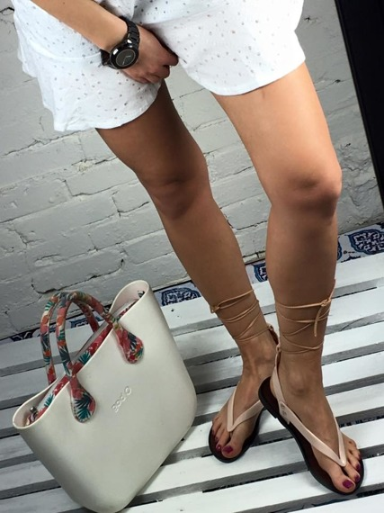 LU BOO BEIGE LACE UP GLADIATOR SANDALS