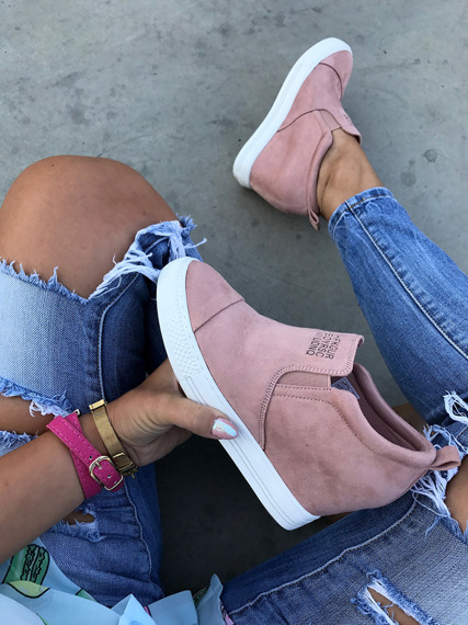 Pink Slip On Sneakers wedges Danica