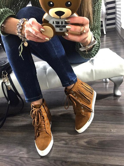 Lu Boo Camel Sneakers Emilly