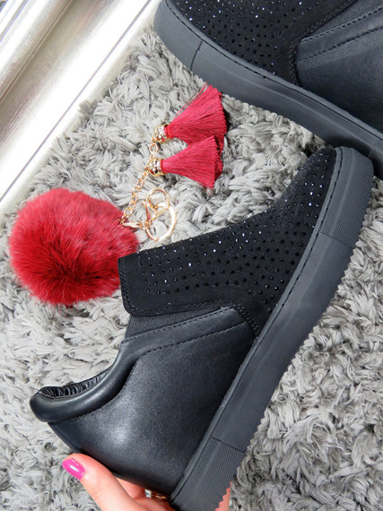 Lu Boo slip on sneakers wedges with crystals