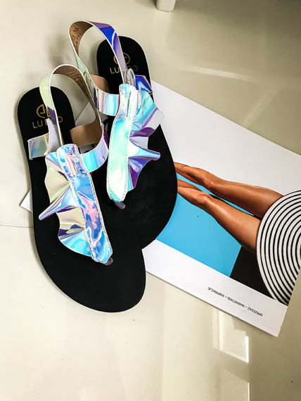 Multicolor Sandals Summer Shoes Wave