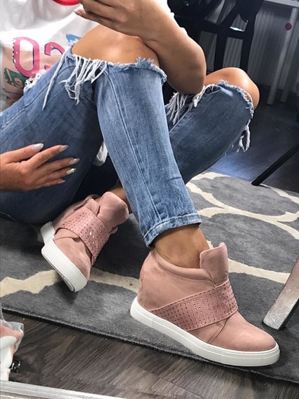 PINK HIDDEN WEDGE SNEAKERS