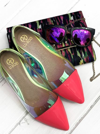 Perspex Ballerinas Slip On Flats