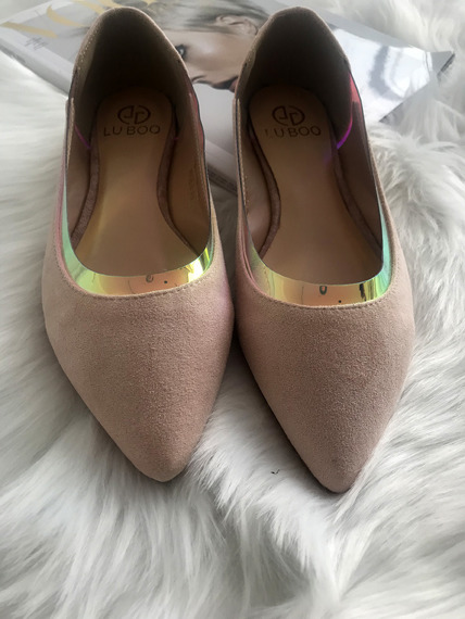 Perspex Pointy-Toe Ballet Flat