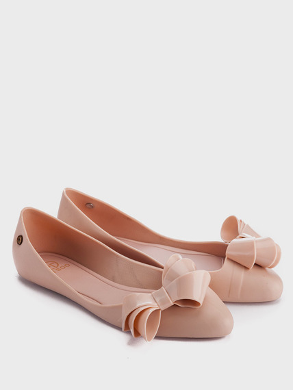 Pink Rubber Ballerinas Bow