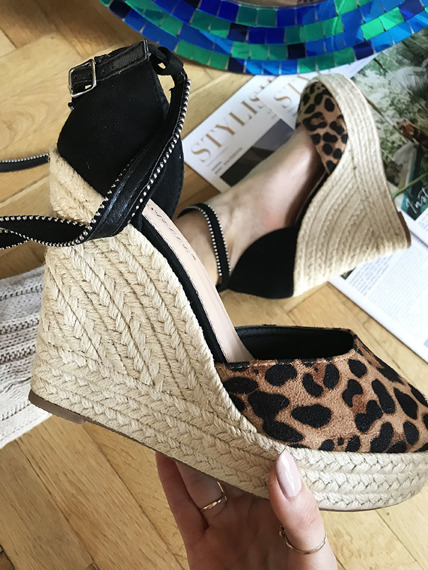 Pink espadrilles wedges Lemotion