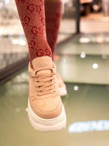 Powder rose Platform Sneakers