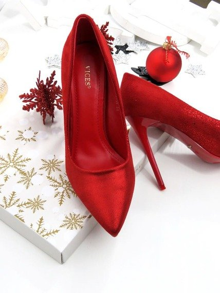 Red Pumps Party High Heels