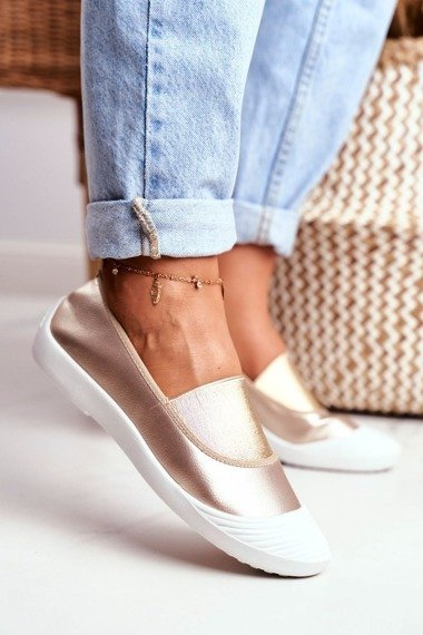 Sneakers On Slip On Sneakers Gold  Justy