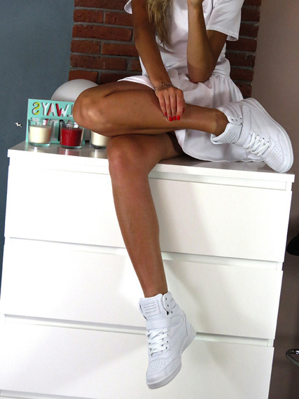 White Sneakers Wedges Brooklyn