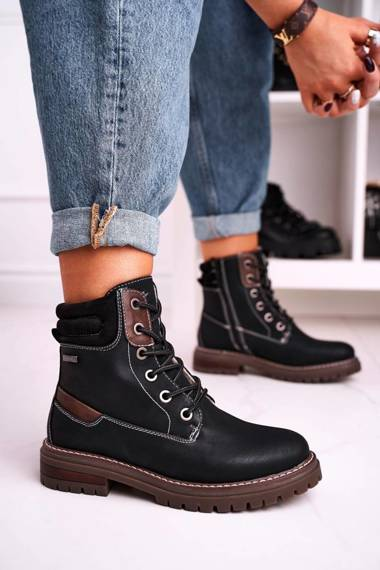 Women's Insulated Workers Boots Black Timber