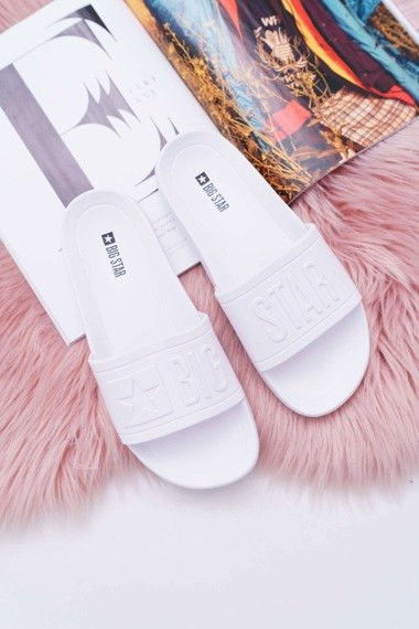 Women's Slides Big Star White