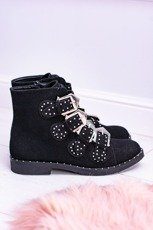Black Ankle Boots with studded Vintage