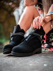 Black ankle boots Madam