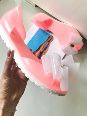 Coral Rubber Shoes Ballerina Queen