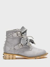 Grey Ankle Studded Boots Kids Lola