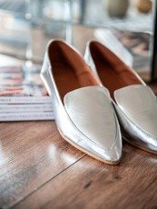 Lu Boo Silver Classic loafers in modern style Jules