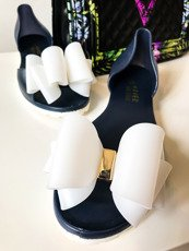 Navy Rubber Shoes Ballerina Queen