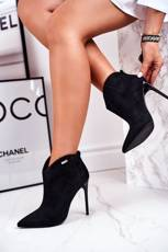 Women's Boots On High Heel Black GG2N3033