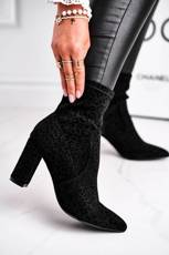 Women's Boots On High Heel Black Panther