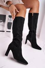 Women's Knee-High Boots Eco-Suede Black Truly Love